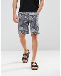 ASOS - Chino Shorts In Grey Camo Print - Lyst