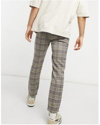 Reclaimed (vintage) Inspired - Pantaloni skinny a quadri - Grigio
