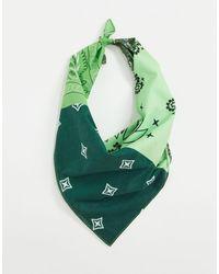 ASOS Bandana en coton à imprimé cachemire - Vert