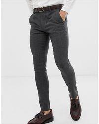 ASOS Wedding Super Skinny Suit Trousers - Grey