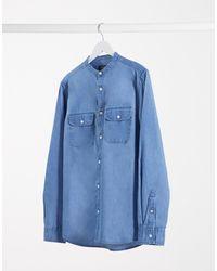 Burton Джинсовая Рубашка Из Органического Хлопка С Длинными Рукавами -голубой - Синий
