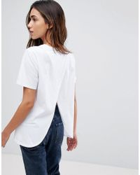 ASOS - T-shirt With Wrap Back - Lyst