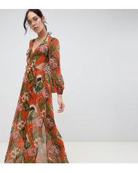 ab7c04cd18 ASOS Glam Beach Kimono In Neon Snake Print With Ruffle Sleeves in Green -  Lyst