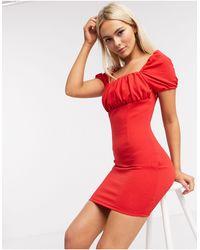AX Paris Vestido estilo mesonera en rojo