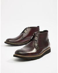 Original Penguin Темно-бордовые Кожаные Ботинки Со Шнуровкой -красный - Многоцветный