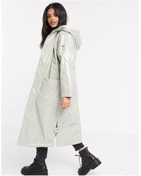 ASOS Vinyl Maxi Raincoat - Multicolour
