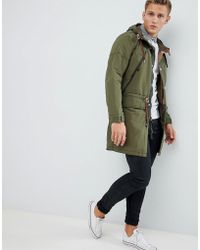 Abercrombie & Fitch Lightweight Hooded Parka In Khaki - Green