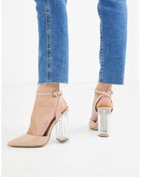 New Look Clear Heeled Shoes - Natural