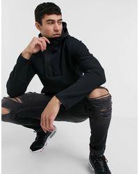 Nike - Черное Флисовое Худи С Короткой Молнией Tech-черный Цвет - Lyst