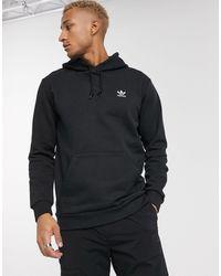 adidas Originals Sudadera negra con capucha Essentials - Negro