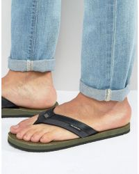 Billabong - Seaway Canvas Thongs - Lyst