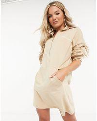 Missguided - Платье-футболка В Стиле Oversized Светло-бежевого Цвета -бежевый - Lyst