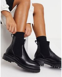 Whistles Chunky Leather Chelsea Boots - Black