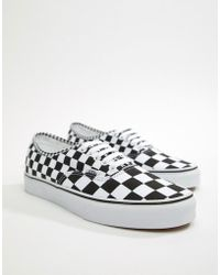 scarpe vans a scacchi