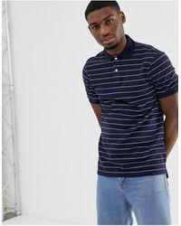 J.Crew Mercantile Slim Fit Striped Polo Shirt - Blue