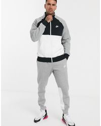 Nike Colour Block Tracksuit In Grey - Gray