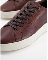 Levi's Briones Minimal Lace Up Trainers - Brown