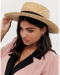 South Beach Соломенная Шляпа С Черной Лентой -бежевый - Многоцветный