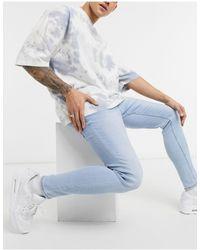 Bershka Super Skinny Fit Jeans - Blue