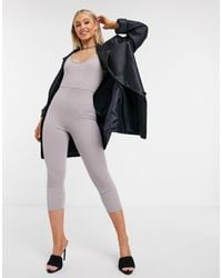 I Saw It First Strappy Fitted Jumpsuit - Grey
