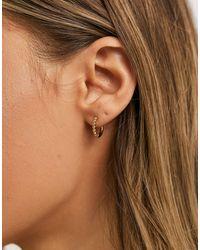 Whistles See Bead Tiny Hoop Earring - Metallic