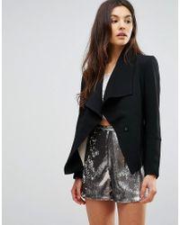 Greylin Manda Oversize Collar Blazer - Black