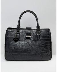 Marc B. - Marlene Croc Push Lock Tote Bag - Lyst