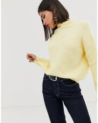 Mango - Oversized Sweater In Yellow - Lyst