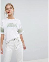 Mango - Unique T-shirt - Lyst