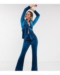 ASOS Jersey Kick Flare Pantalon - Blauw