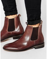 Bellfield - Leather Chelsea Boots - Lyst
