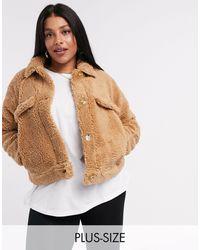 Missguided - Светло-коричневая Короткая Куртка Из Искусственного Меха -коричневый Цвет - Lyst