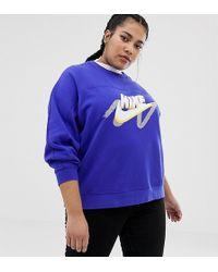Nike Archive Graphic - Sweat-shirt à logo - Bleu