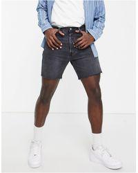 Levi's 501 93 Straight Fit Cut Off Denim Shorts - Black