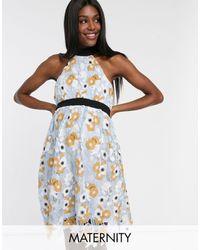 Chi Chi London Crochet Lace Prom Dress - Multicolour