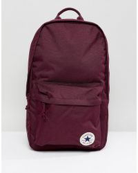 Converse - Chuck Taylor Patch Backpack In Burgundy - Lyst