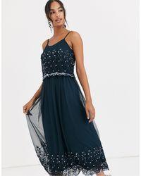 Angeleye Embellished Cami Maxi Dress - Blue
