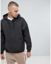 ASOS   Oversized Hoodie In Washed Black   Lyst