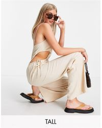 Missguided Jumpsuit With Cut-outs - Natural