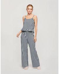 Miss Selfridge Pajama Trouser Set - Blue