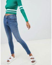 Pull&Bear Pantalones muy ajustados en azul claro de