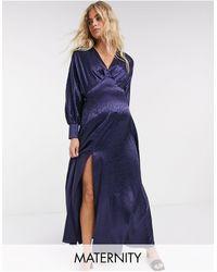 Flounce London Эксклюзивное Темно-синее Платье Макси -темно-синий