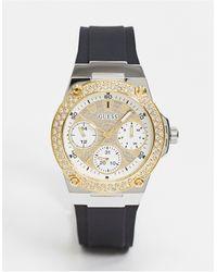 Guess – Chronograf mit schwarzem Armband
