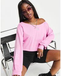 adidas Originals Sudadera corta holgada - Rosa