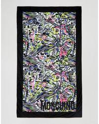 Moschino Print Beach Towel - Multicolor