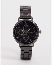 ASOS Skinny Bracelet Watch In Gunmetal - Metallic