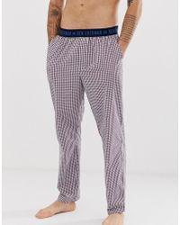Ben Sherman Woven Dalton Lounge Trousers - Purple