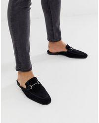 ASOS – e Wildeder-Loafer mit offener Fersenpartie und Trensendesign - Schwarz