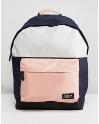 Nicce London Nicce Backpack With Pink Panels