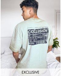 Collusion Зеленая Футболка С Принтом -зеленый